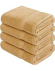 Toallas de mano grandes de algodón (paquete de 4, 41 x 71 cm)