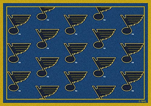 Milliken St. Louis Blues NHL Team Repeat Area Rug, 10 9 x 13 2 , 02062 Repeat