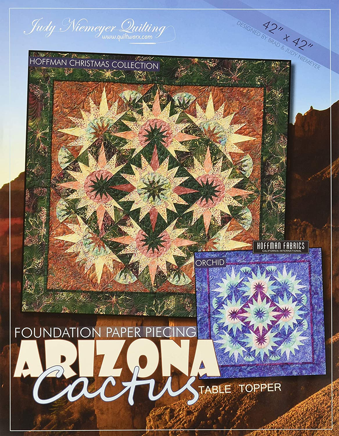 Poinsetta Foundation Paper Piecing Quilt Pattern Judy Niemeyer Table Topper