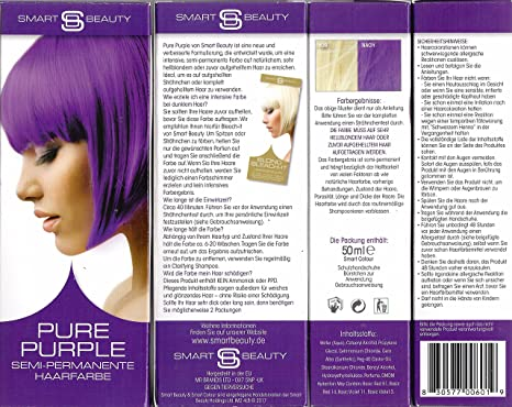 Smart Beauty Pure Purple Semi-Permanente Haarfarbe 50 ml: Amazon.de ...