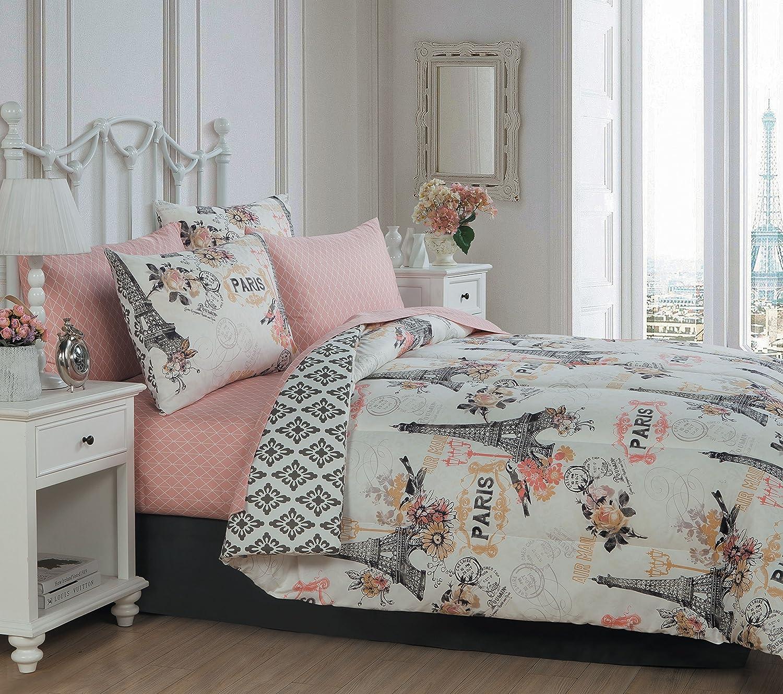 Avondale Manor Cherie 6-piece Comforter Set, Twin, Coral