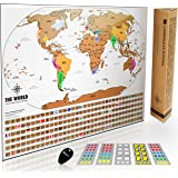 Amazoncom Scratch Off USA Map With National Parks Capitals - Us scratch off map