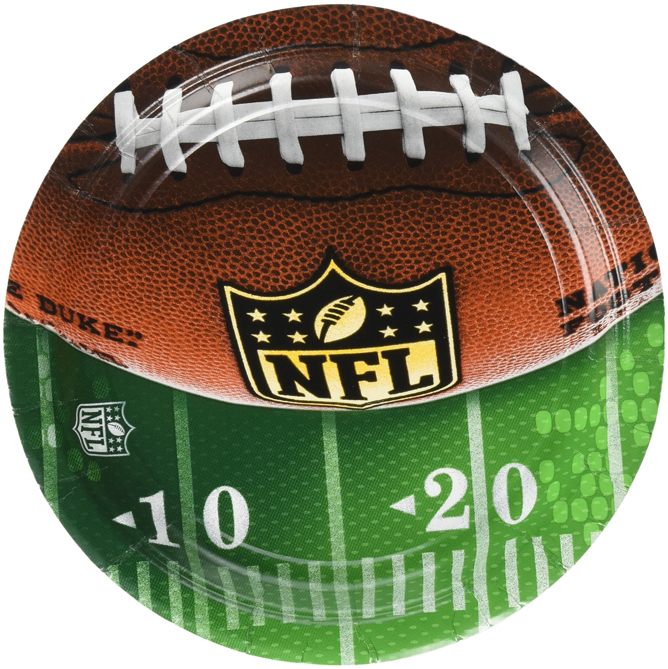Amscan ''NFL Drive Collection'' 7'' Round, Party Plates, 48 Ct.