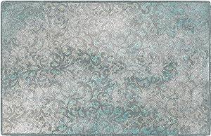 Brumlow Mills Charleston Blue Vintage Trellis Area Rug, 2'6