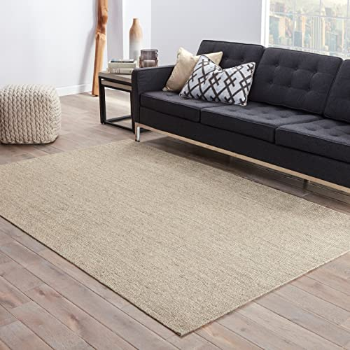 Jaipur Living Daytona Natural Fiber Solid Neutral Area Rug 9 X 12