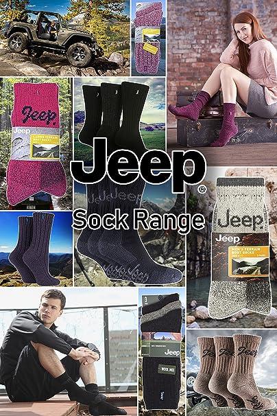Jeep Homme Performance Coussin/é Botte Chaussettes Boite cadeau Paquet de 4