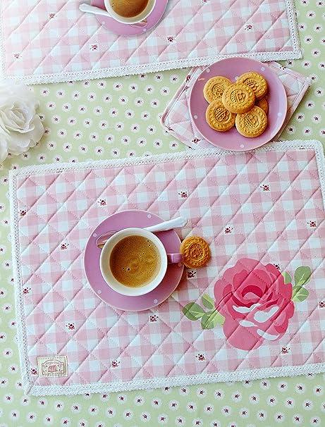 Set De Table Campagne Chic Motif Fleurs Et Broderie 35x50 Cm