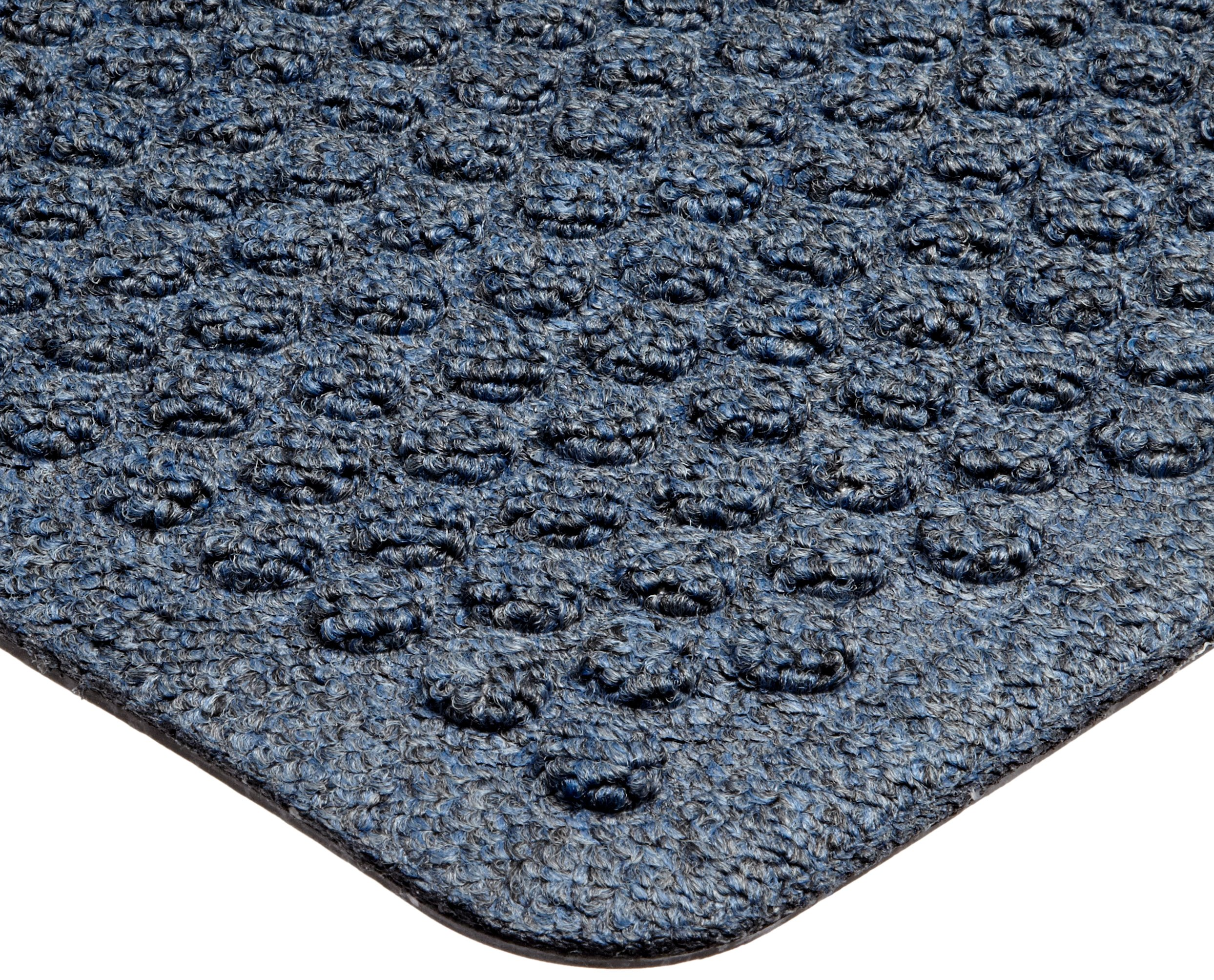 Notrax 150 Aqua Trap Entrance Mat, for Main Entranceways and Heavy Traffic Areas, 2' Width x 3' Length x 3/8'' Thickness, Slate Blue