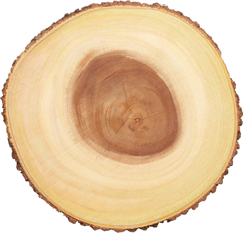 Kitchencraft Artesà Árbol tronco tabla de quesos/bandeja con borde de corteza de madera natural, 30cm (12