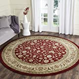 Safavieh Lyndhurst Collection LNH312A Traditional Oriental Red and Ivory Round Area Rug (8' Diameter)
