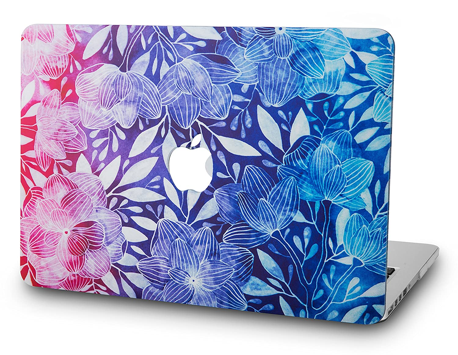 KEC MacBook Pro 13 Case 2017 & 2016 Plastic Hard Shell Cover A1706 / A1708 with/without Touch Bar Oil Painting (Rainbow Mist) RM-P13-2016