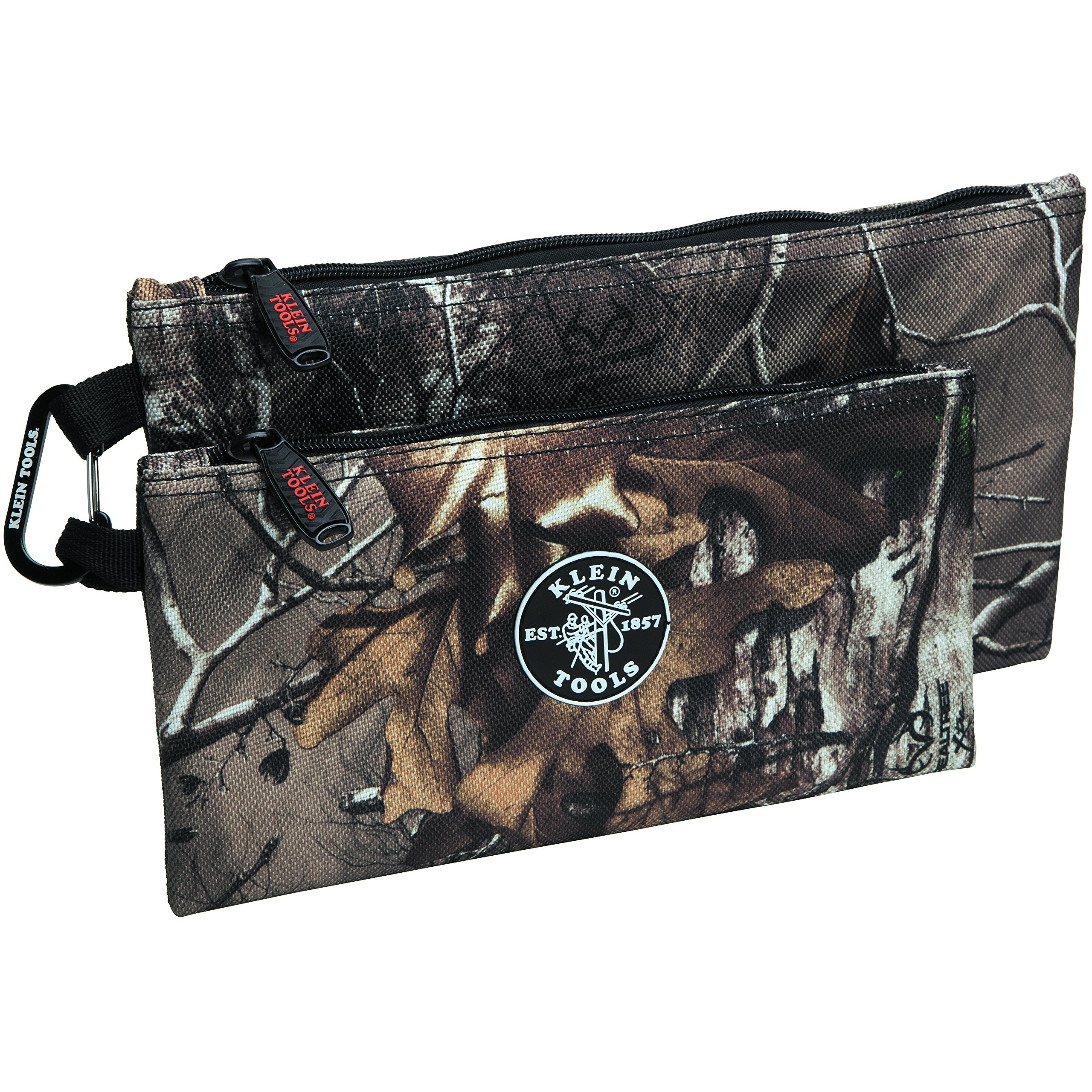 Zipper Bags, Camo Bags are 12.5 and 10-Inch, 1680d Ballistic Weave Camouflage 2-Piece Klein Tools 55560 by Klein Tools