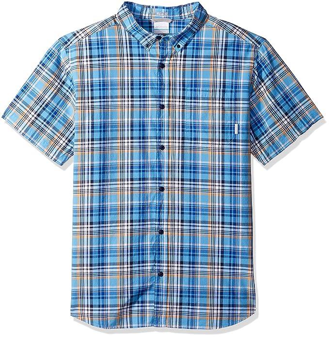 ab8b512ff7a Columbia Men's Rapid Rivers Ii Short Sleeve Shirt, Azul Plaid Large