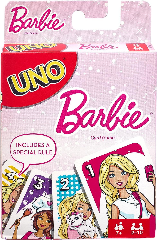Mattel Games FMP71 UNO Barbie - Juego de Cartas para niños a Partir de 7 años: Amazon.es: Juguetes y juegos