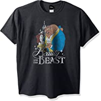 Disney Men's Beauty and The Beast Poster Logo Graphic T-Shirt