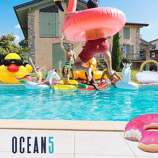 Flotador rueda donat XXL con mordida - Ø 100 cm, rueda hinchable, colochoneta gigante de la marca Ocean 5: Amazon.es: Juguetes y juegos