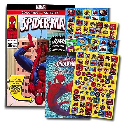 Marvel Spiderman Coloring Book With Over 270 Stickers Bonus Superhero Sticker