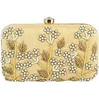 Tooba Women's Pearl Tree Box Clutch