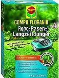 COMPO FLORANID® Rasen-Robo Langzeitdünger, auf den Mulchprozess abgestimmte Rasendüngung mit 3-monnatiger Langzeitwirkung, perfekte Düngung bei der Nutzung von Mährobotern, 6 kg für 200 m²