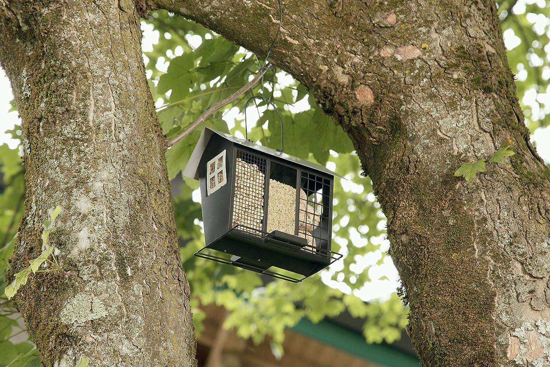 aus Metall 06998 Windhager Vogelfuttersilo TRIO mehrfarbig witterungsbest/ändig Vogelfutterstation Futterspender Futtersilo Vogelh/äuschen