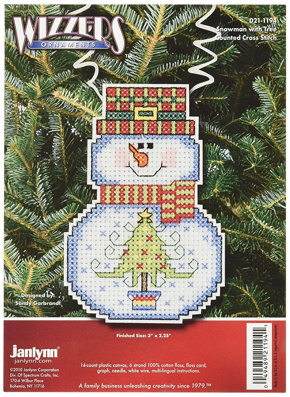 Janlynn Cross Stitch Kit, Snowman with Tree 021-1194