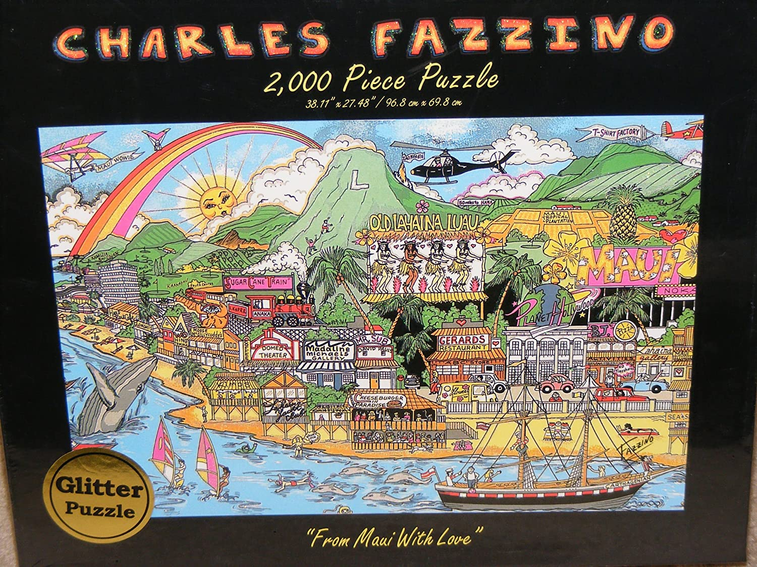 Charles Fazzino From Maui With Love 2000 piece Jigsaw Puzzle