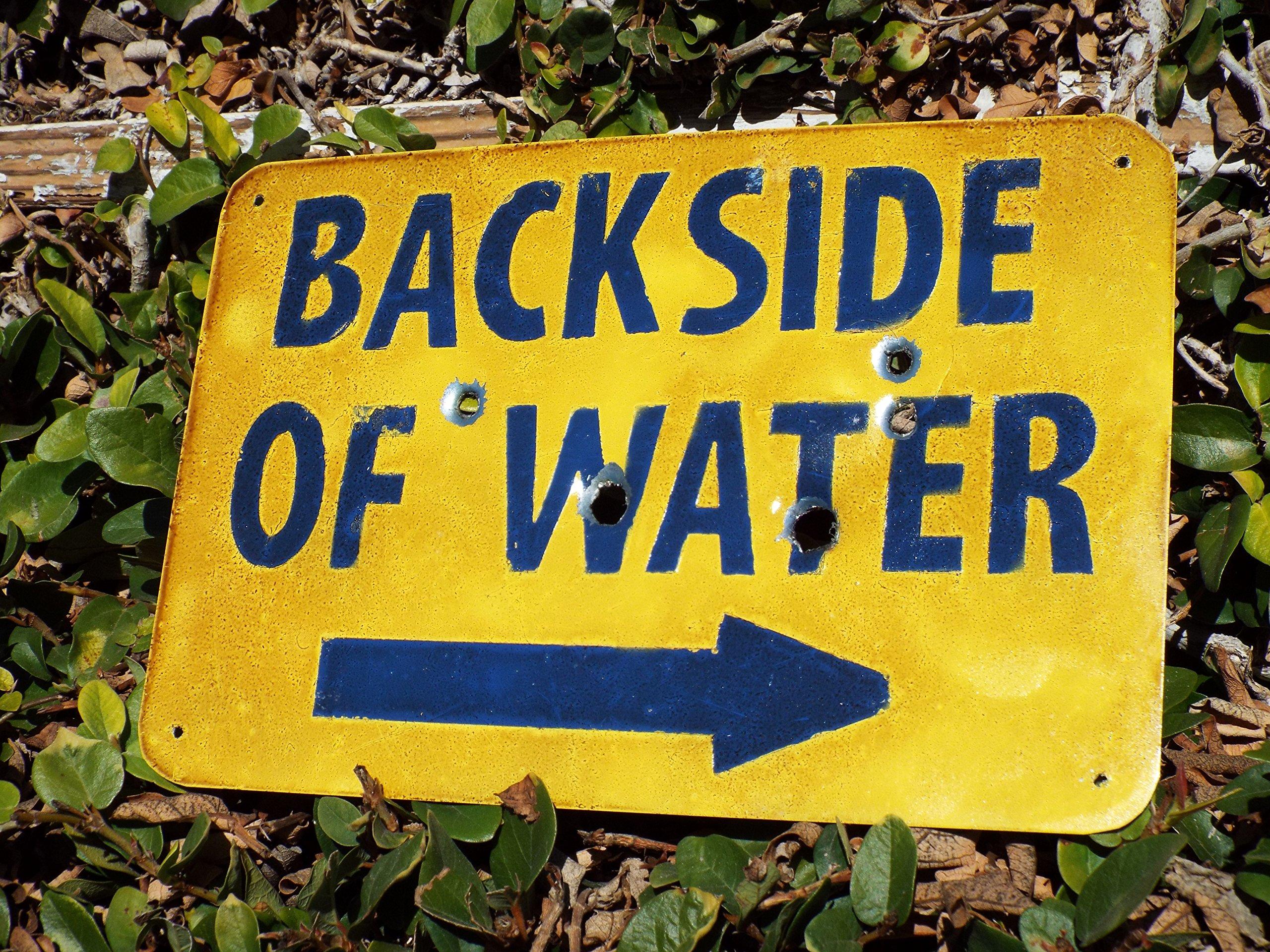 Backside of Water - Disneyland Jungle Cruise Inspired Metal Sign.