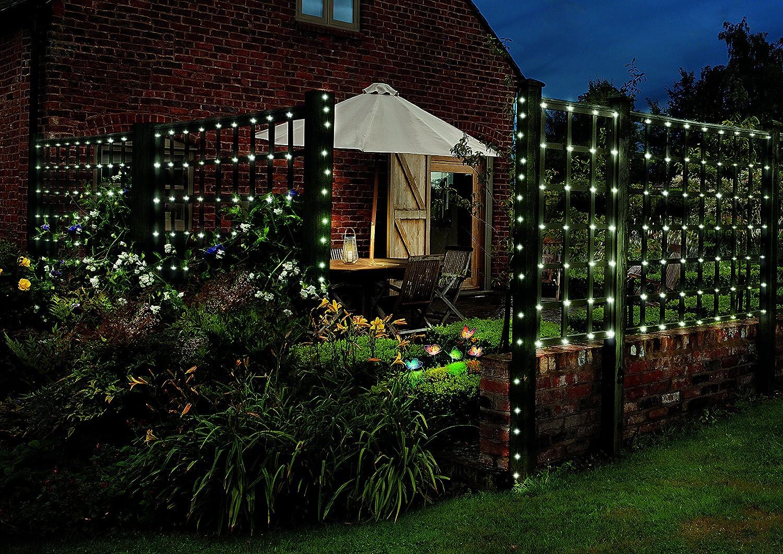 cole u0026 bright 250 solar led string lights amazon co uk garden