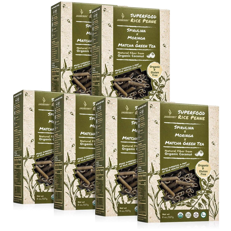 Jasberry Pasta orgánica, sin pegamento, sin pasta (penne ...