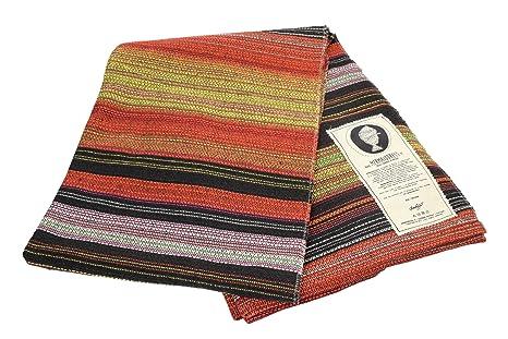 Open Road Goods Handwoven Outdoor Yoga Blanket - Handmade Multicolor Yoga Mat, Beach Blanket, Picnic Blanket or Decorative Throw