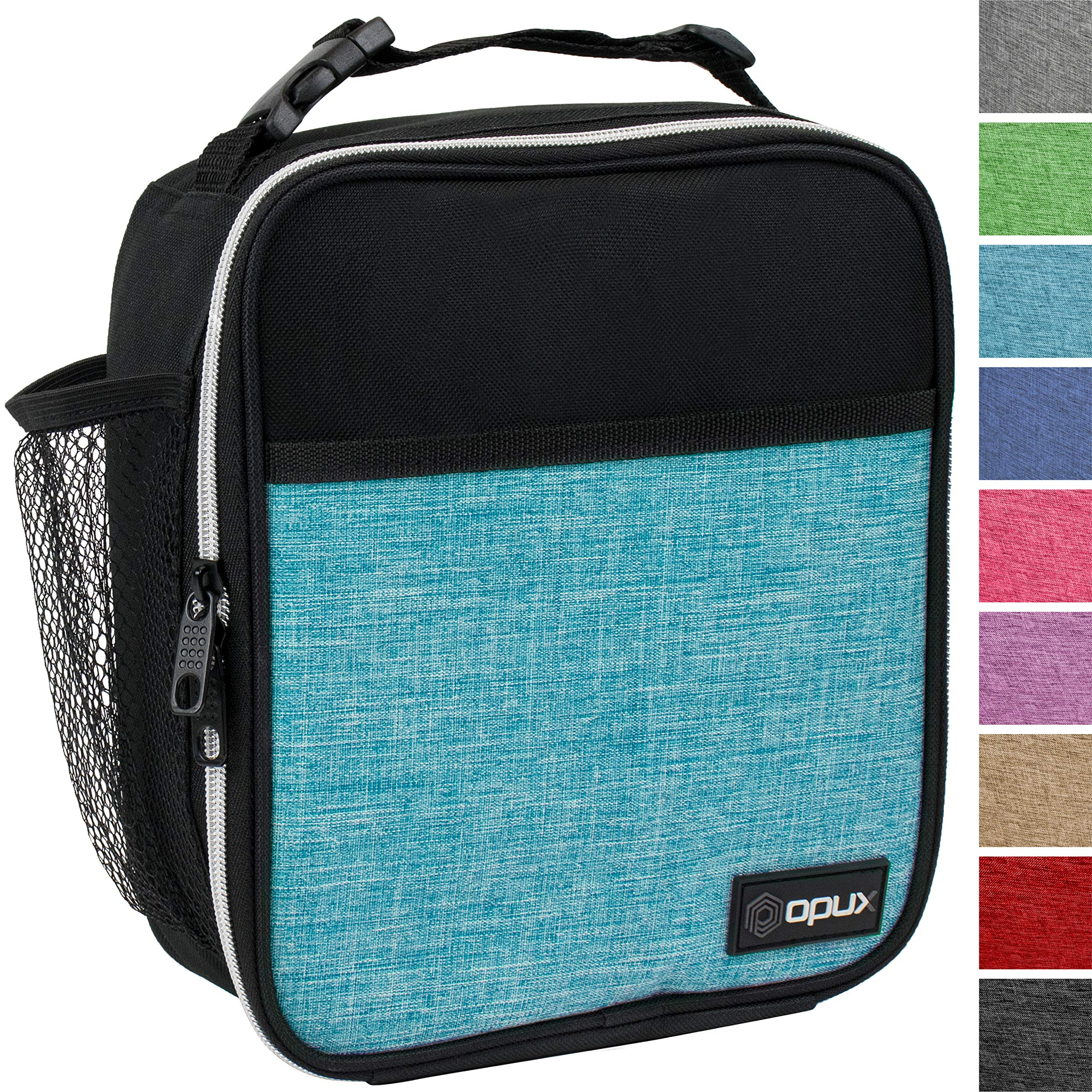 OPUX Premium Insulated Lunch Box | Soft Leakproof School Lunch Bag for Kids, Boys, Girls | Durable Reusable Work Lunch Pail Cooler for Adult Men, Women, Office - Fits 6 Cans (Turquoise) by OPUX