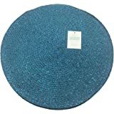 Four Round Metallic Teal/Teal Effect (12in-30cm Diameter Approx) Placemats