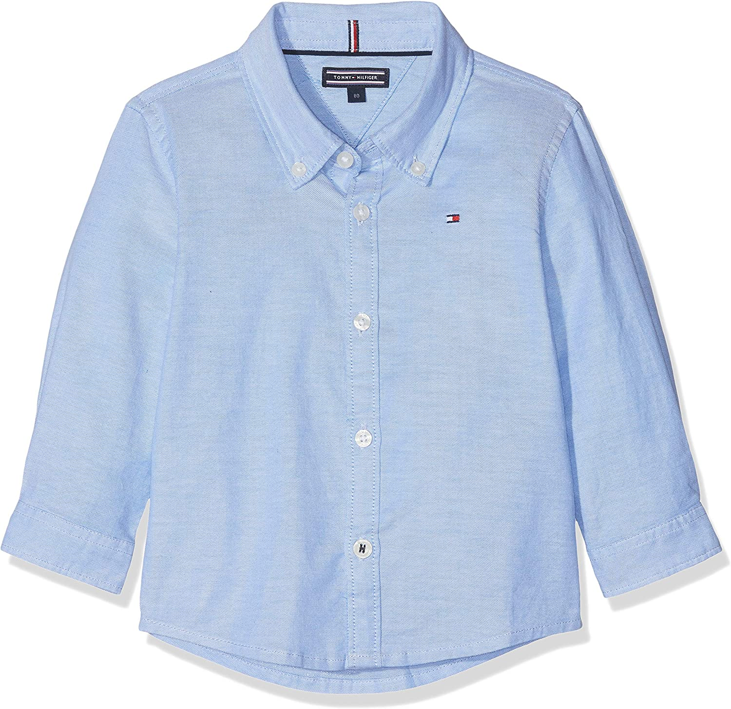 Tommy Hilfiger Boys Stretch Oxford Shirt L//S Camicia Bambino