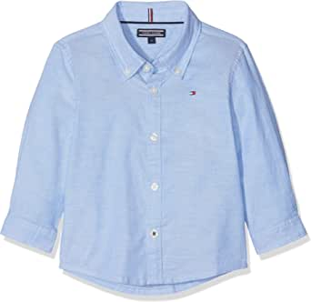 Tommy Hilfiger Boys Stretch Oxford Shirt L/S Blusa para Niños