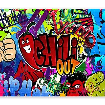 Graffiti Street Art Photo Wallpaper Wall Mural Fleece Easy-Install Paper