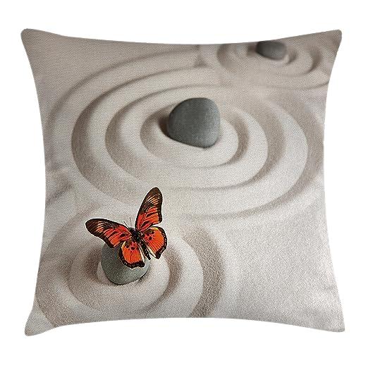 Mariposa manta almohada Funda de cojín por Ambesonne, Zen ...