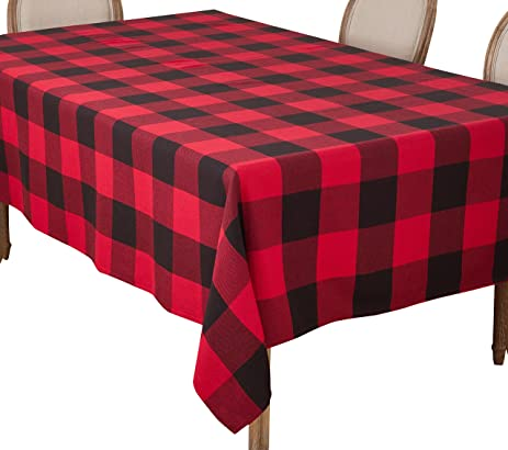 Exceptional SARO LIFESTYLE Buffalo Plaid Check Design Cotton Tablecloth, 65u0026quot; ...