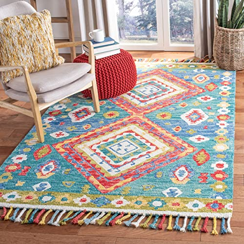South West Native American Area Rug 8 Feet X 10 Feet Berber Design C318