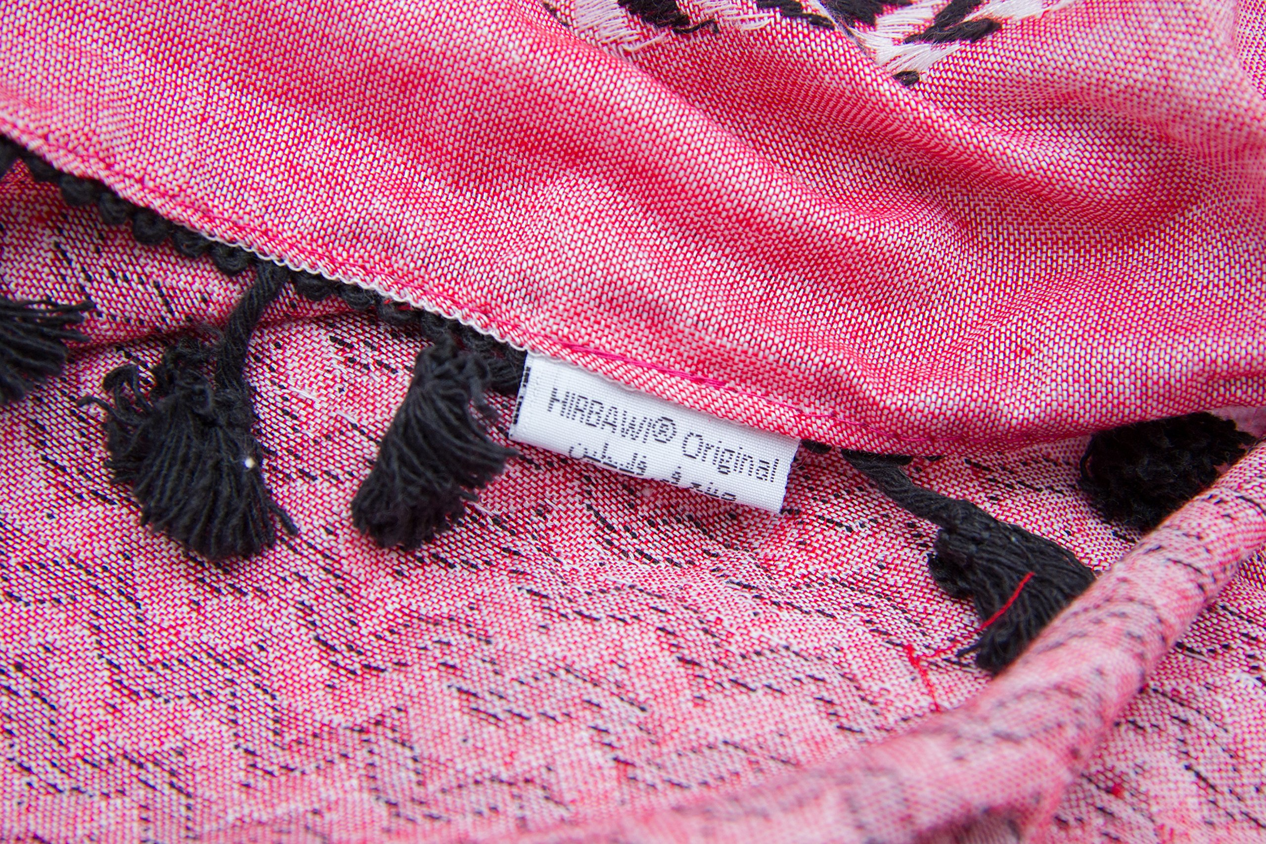 Hirbawi Premium Arabic Scarf 100% Cotton Shemagh Keffiyeh 47''x47'' Arab Scarf (Pink Zahra) Made in Palestine by Hirbawi (Image #7)