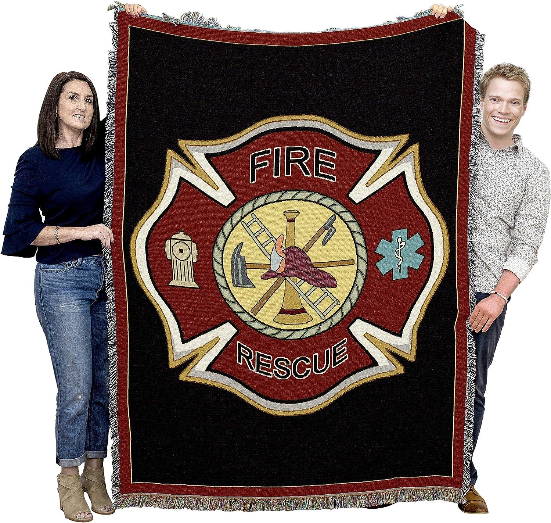 New Firefighter Firefighter/'s Prayer Woven Cotton Throw Blanket Fireman Gift Hat
