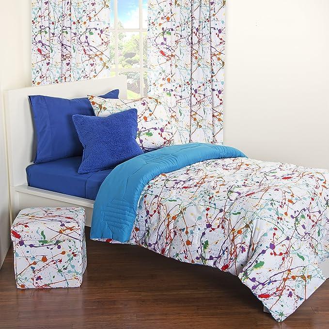Amazon Com Crayola Splat Comforter Set Full Queen Home Kitchen