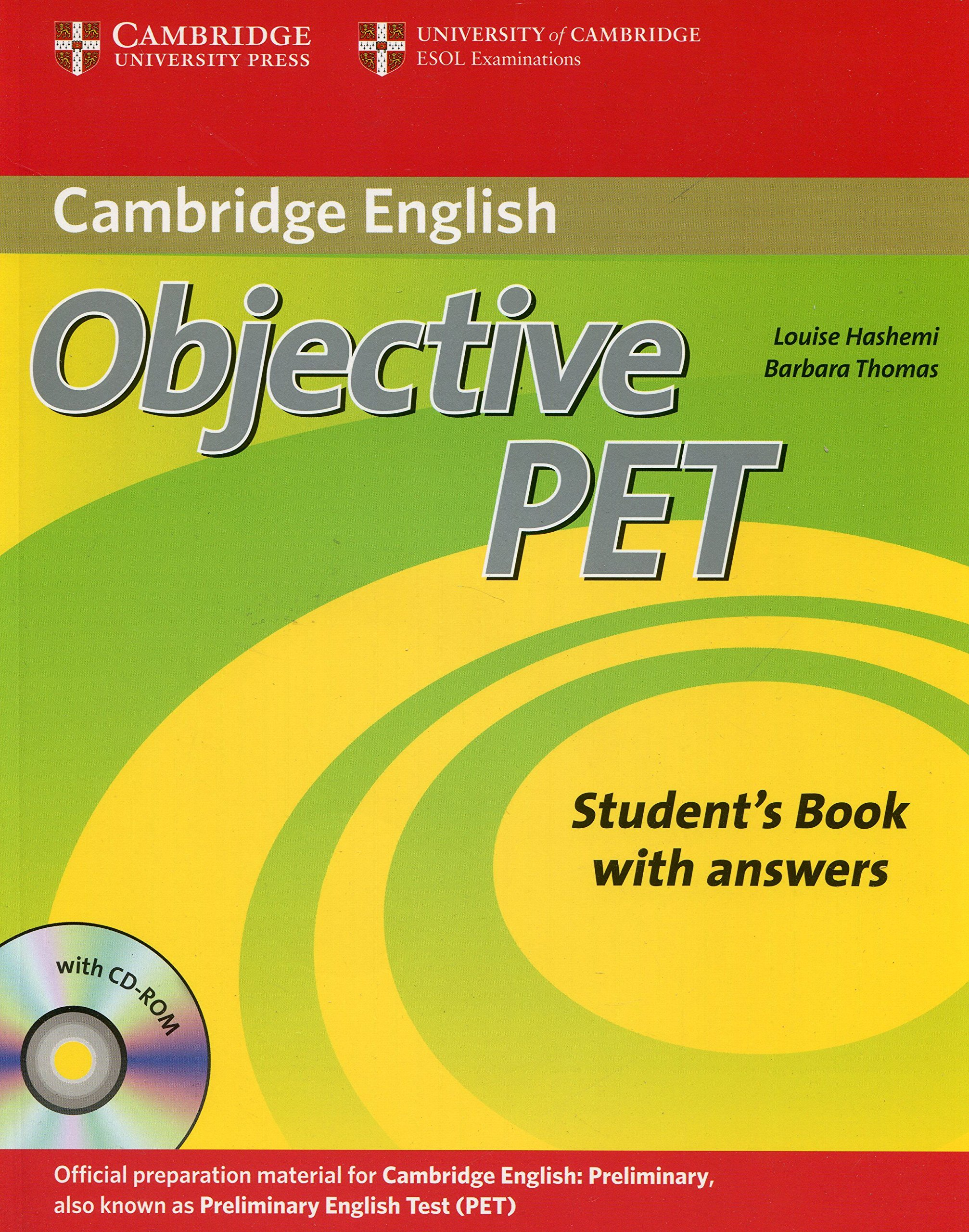 buy objective pet student s book with answers with cd rom book