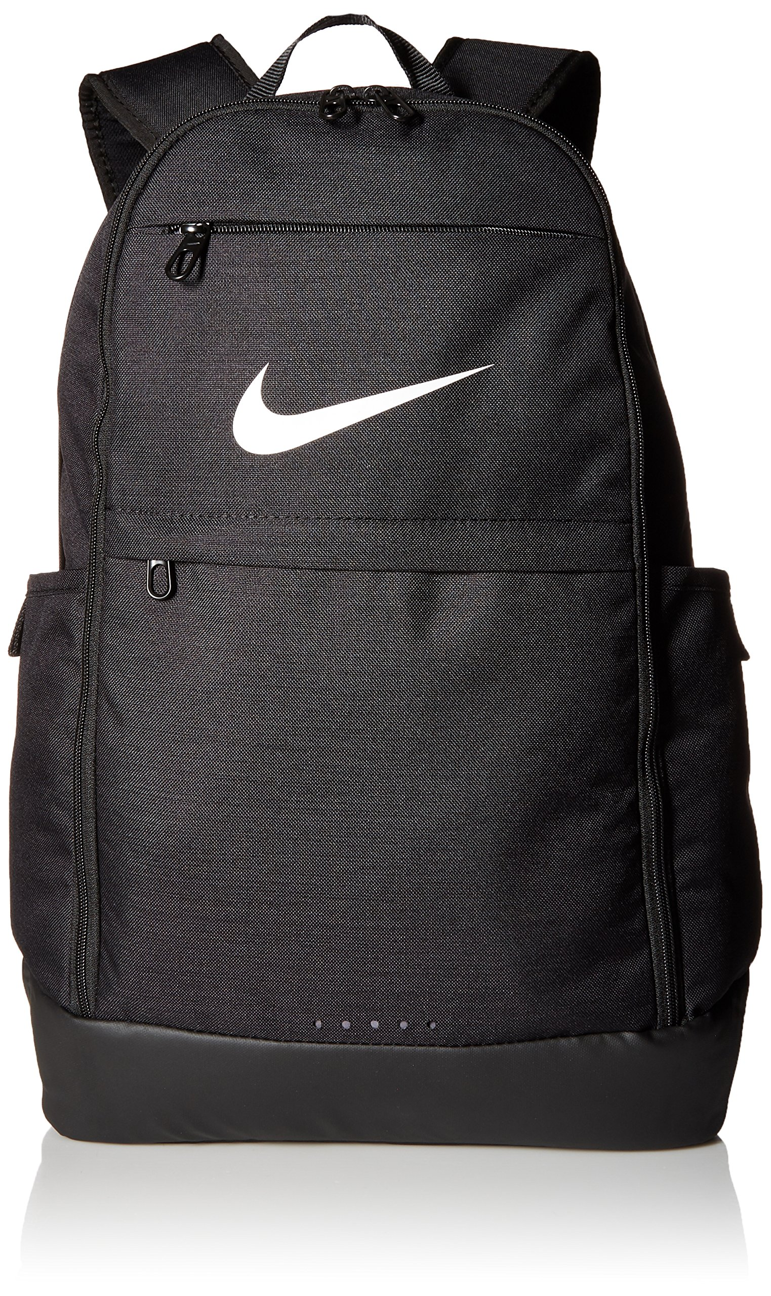 Nike Brasilia Training Backpack, Extra Large Backpack Built for Secure Storage with a Durable Design, Black/Black/White by Nike