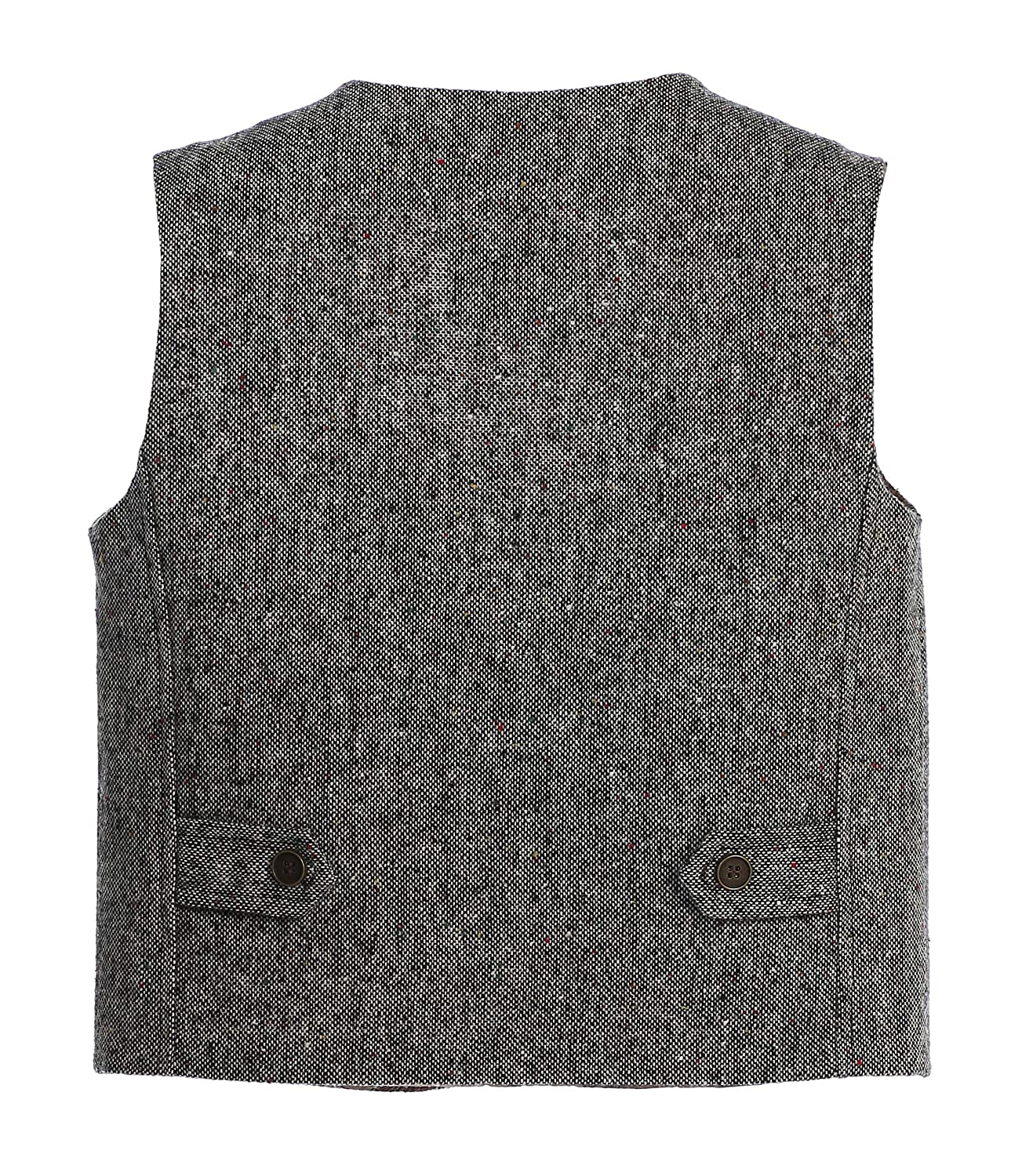 Gioberti Boys 3pc Tweed Vest with Matching Cap and Bow Tie