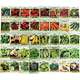Set of 40 Assorted Vegetable & Herb Seeds 40 Varieties Create a Deluxe Garden All Seeds are Heirloom, 100% Non-GMO! by Black