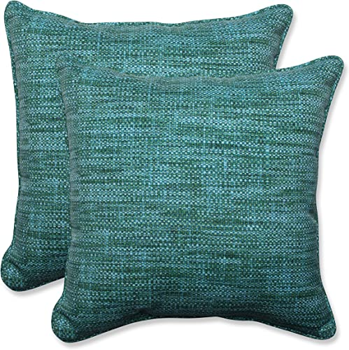 Pillow Perfect Outdoor Indoor Remi Lagoon Throw Pillows, 18.5 x 18.5 , Blue, 2 Pack
