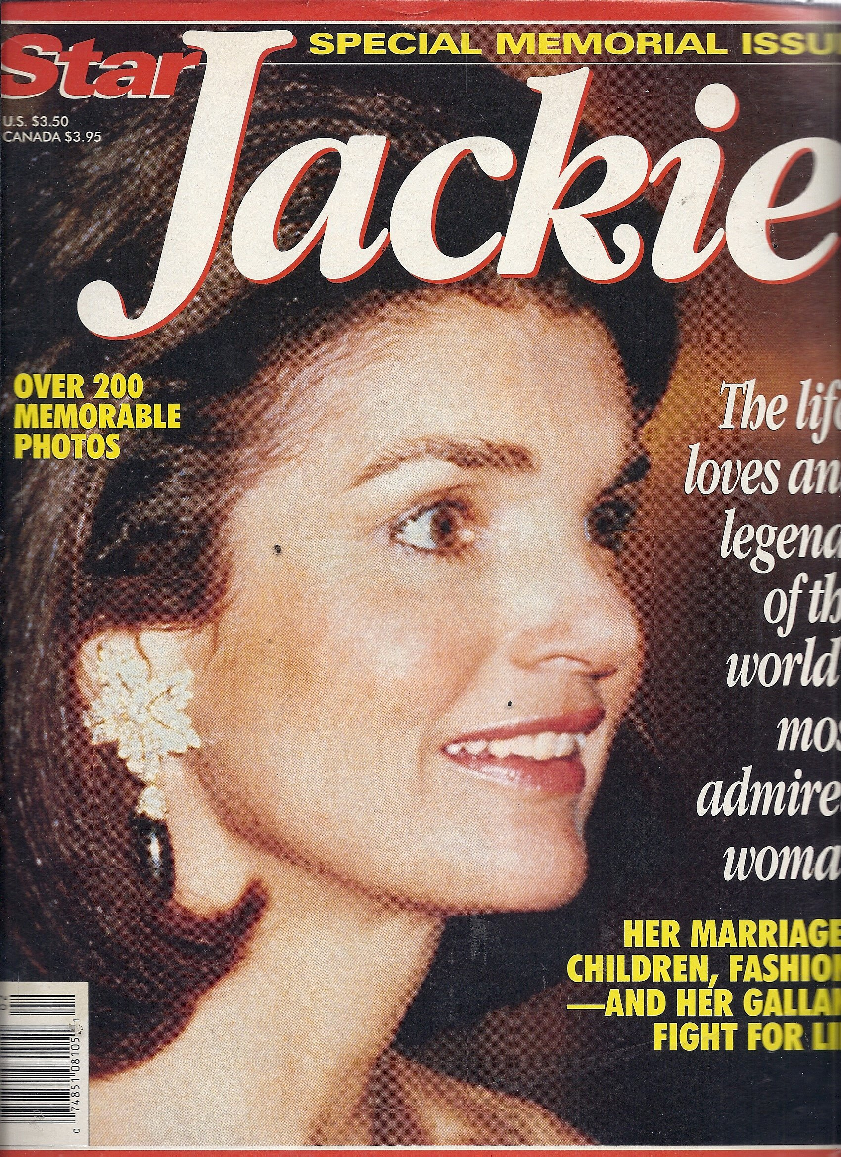 Star Special Memorial Issue Jackie Various Amazon Com Books