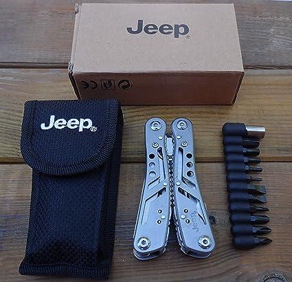 Multiherramienta Alicate multifuncional 9 en 1 - 16,8 cm - Accesorio Jeep - herramienta