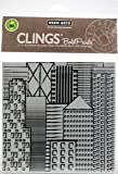 "Hero Arts Cling Stamps 6""X6""-Abstract Skyline Bold Prints"