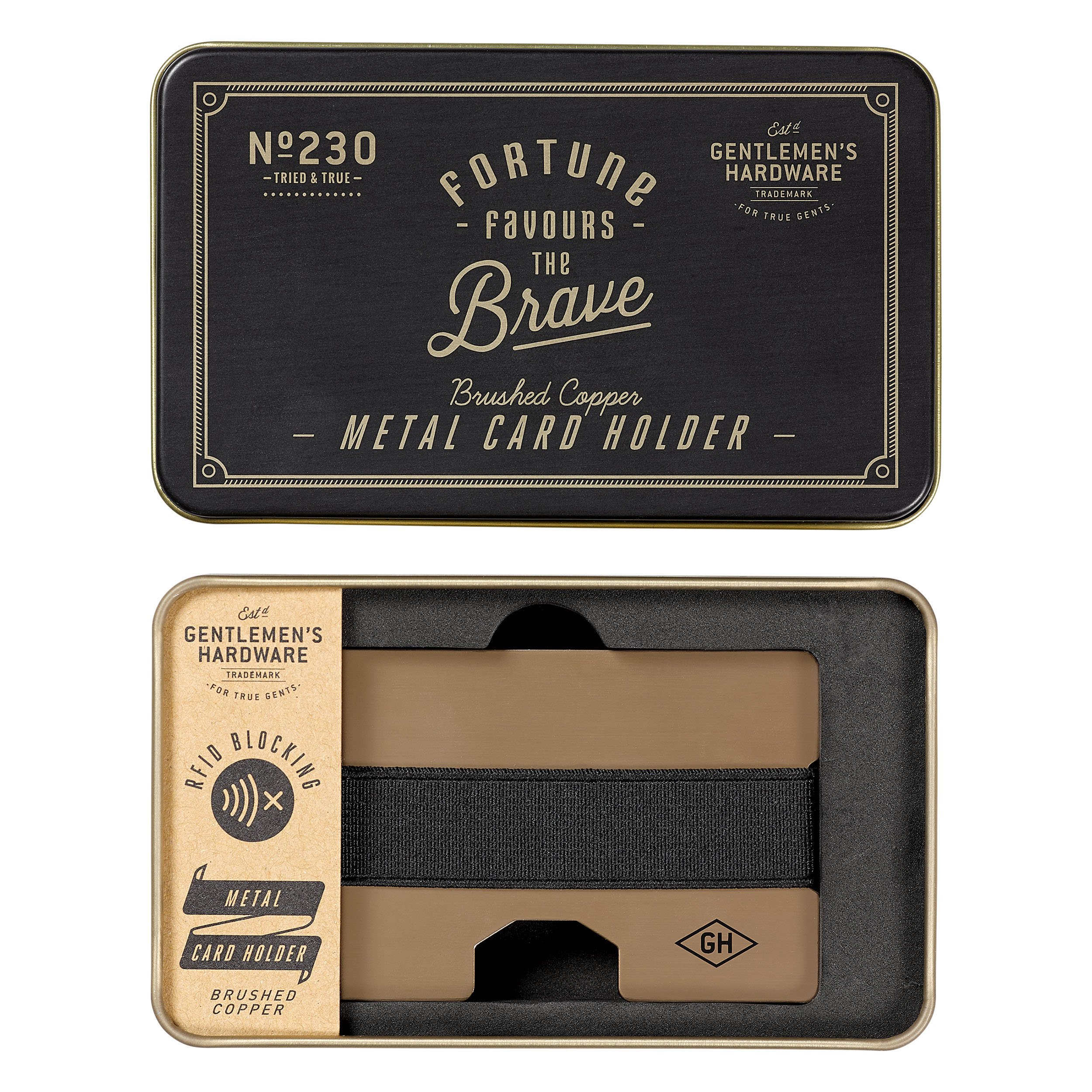 Gentlemen's Hardware Copper Metal Card Holder